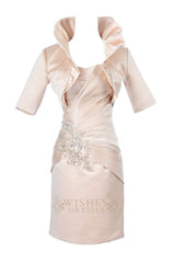 Column Silver Satin Mother of the Bride /Groom Dresses Am192
