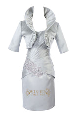 Column Satin Short Mother of the Bride /Groom Dresses With Jacket Am192
