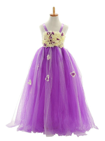 Lilac Organza Flower Girl Dresses  Am193