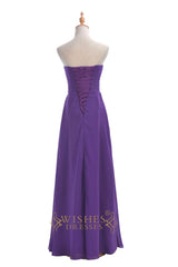 A-line Sweetheart Chiffon Bridesmaid Dress For Wedding Party Am198