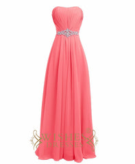 Strapless Yellow Formal Gown With Gem Waistband Long Prom Dresses Am20