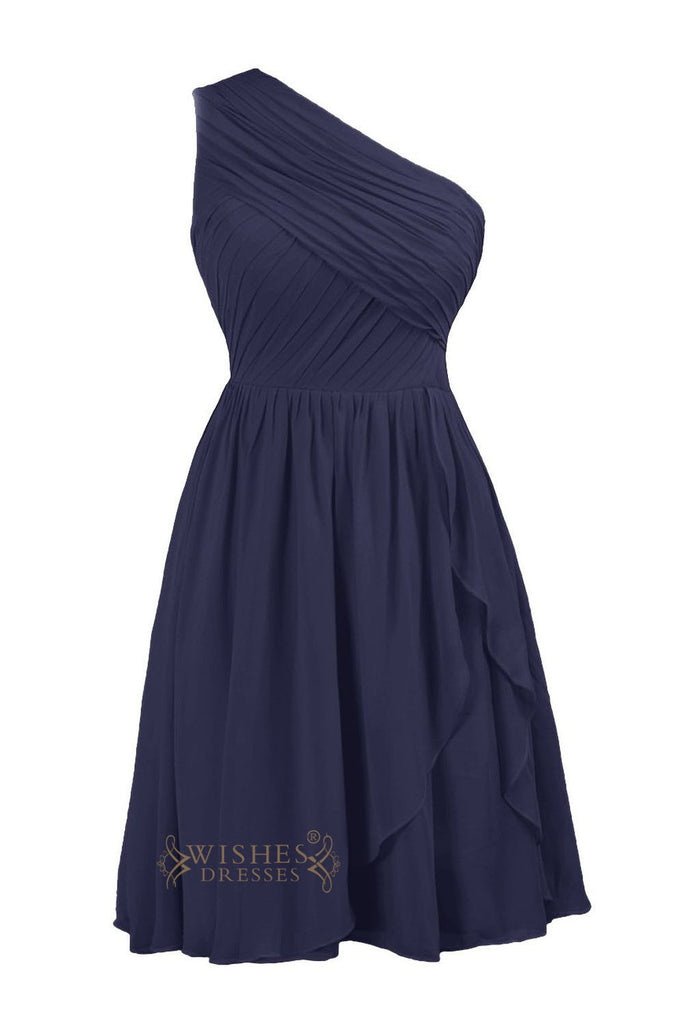 A-line Dark Navy Chiffon Bridesmaid Dresses Am206