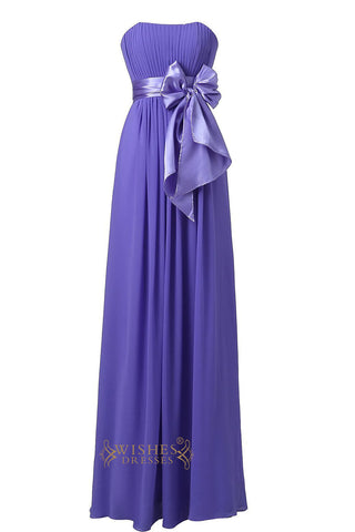 Lavender Strapless Sweetheart  Floor Length Bridesmaid Dress For Wedding  Am22