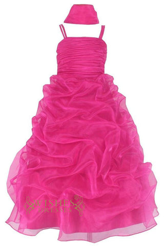 A-line  Fuchsia Full Skirt Flower Girl Dresses Am222