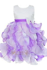 A-line Bicolor Organza Flower Gir Dress Am223