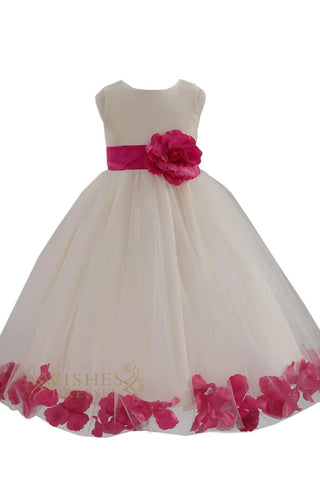 Cute Fuchsia Detail Flower Girl Dresses Am224