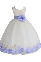 Cute Navy Detail Flower Girl Dresses Am224