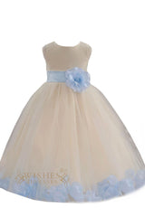 Cute Orange Detail Flower Girl Dresses Am224