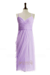 A-line Spaghetti Straps Junior Bridesmaid Dress Am229