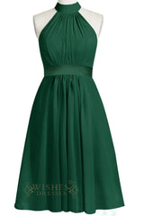 A-line Green Chiffon Bridesmaid Dress Am238