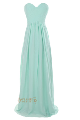 Long Mint Bridesmaid Dresses For Bridal Party Am23