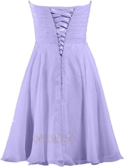 A-line Lavender Bridesmaid Dress Am240