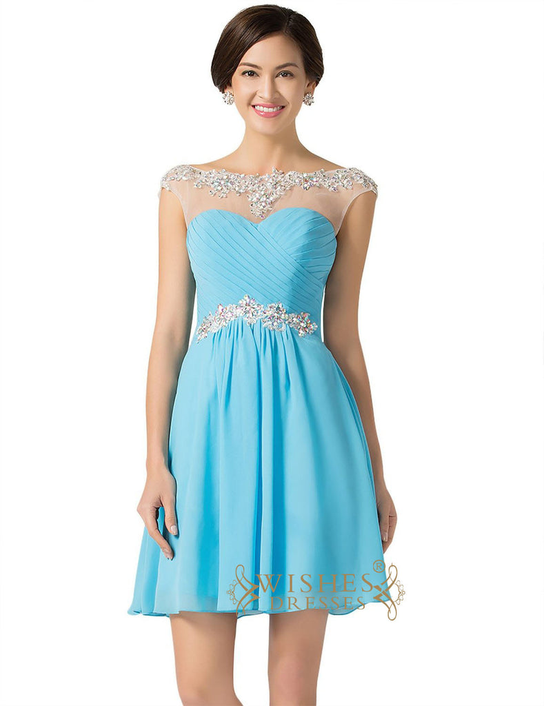 Sexy Royal blue Chiffon Short Cocktail Dress / Prom Dress/ Homecoming