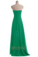 High Low Chiffon Green Cocktail Dress / Prom Dress/  Homecoming Dress Am247