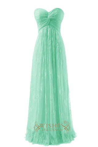 A-line Sweetheart Lace Bridesmaid Dress / Prom Dress/  Formal Dress Am249