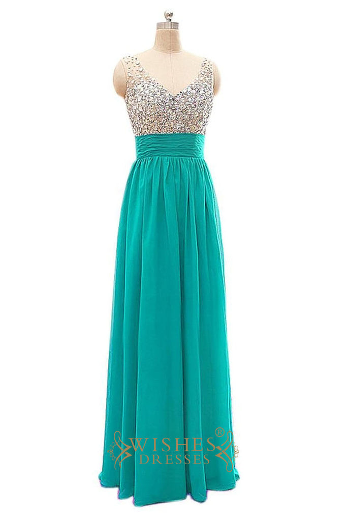 Sexy V-neck Chiffon Long Evening Dress / Prom Dress/  Formal Dress Am250