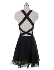 Sexy Black Sequins Short Prom Dress/ Homecoming Dresses Am29