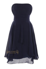 Simple Style Chiffon Knee Length Bridesmaid Dress  Am35