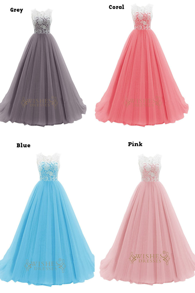 ... Hotsale Turquoise Organza Formal Dress With White Lace Top Prom Dress  Am52 ...