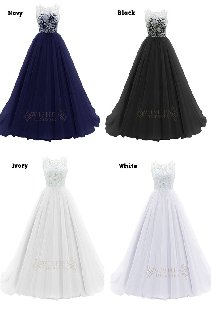 Hotsale Turquoise Organza Formal Dress With White Lace Top Prom Dress