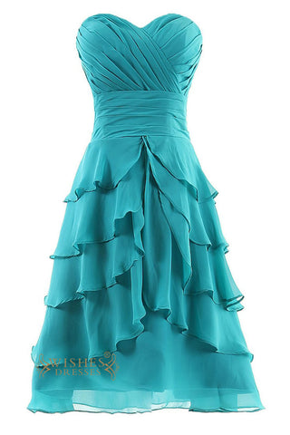 A-line Short Bridesmaid Dresses Am60
