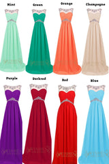 Fashion Red Chiffon Long Formal Gown/ Prom Dress/ Evening Dress Am74