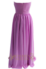 Discount Lilac Chiffon Floor Length Bridesmaid Dress Am89