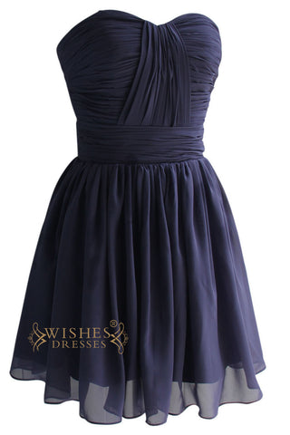 Sweetheart Strapless Criss-cross Bridesmaid Dress Am96