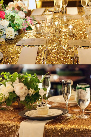 51*78 Inch Sequins Tablecloth For Wedding Decoration AM534