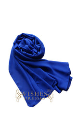 Royal Blue Chiffon Shawl For Dresses S17001
