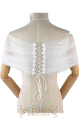 White Cap/ Shawl For Dresses S17004