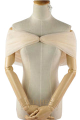 White Knot Cap/ Shawl For Dresses S17004-1