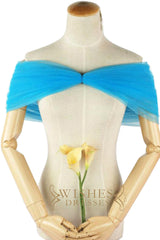 Blue Knot Cap/ Shawl For Dresses S17004-2