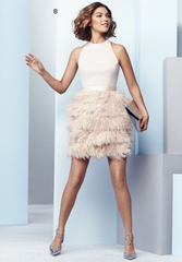 Gorgeous Feather Skirt Cocktail Dress /Prom Dresses/ Homecoming Dresses Am122