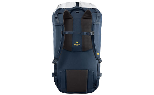 Supportive carrying system with fixed back length and wooden frame.