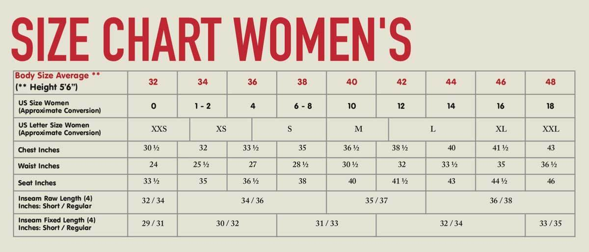 womens sizes