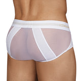 Clever Moda Piping Brief Calm White Men's Underwear