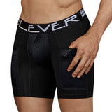 Clever Moda Long Boxer Connection Black Men's Underwear