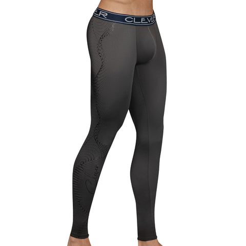 Clever Moda Skin Leggings Ethereal Grey Men's Sportswear