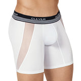 Clever Moda Long Boxer Cautious White Men's Underwear