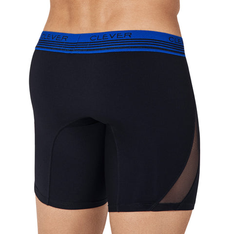 Clever Moda Long Boxer Cautious Black Men's Underwear