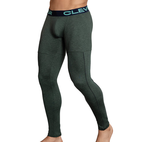 Clever Moda Skin Leggings Gordiano Green Men's Sportswear