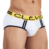 Clever Moda Piping Brief Brasilea White Men's Underwear