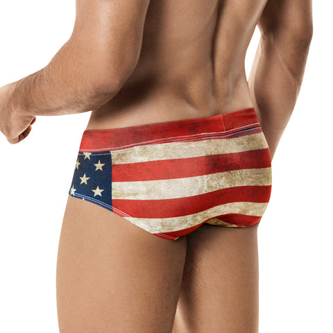 Clever Moda Swim Brief USA Men's Swimwear
