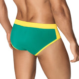 Clever Moda Swim Brief Buzios Green Men's Swimwear