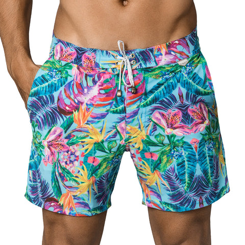 Clever Moda Swim Short Sea Plants Men's Swimwear
