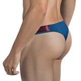Clever Moda Thong Stingray Blue Men's Underwear