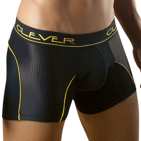 Clever Moda Boxer Cotton-Mesh Black Men's Underwear