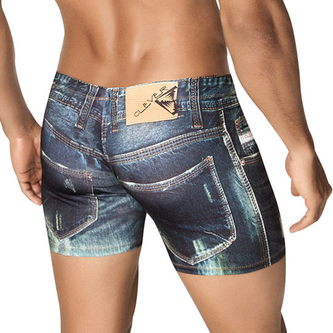 Clever Moda Boxer Denim Jean Blue Men's Underwear
