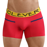 Clever Moda Piping Boxer Czech Red Men's Underwear